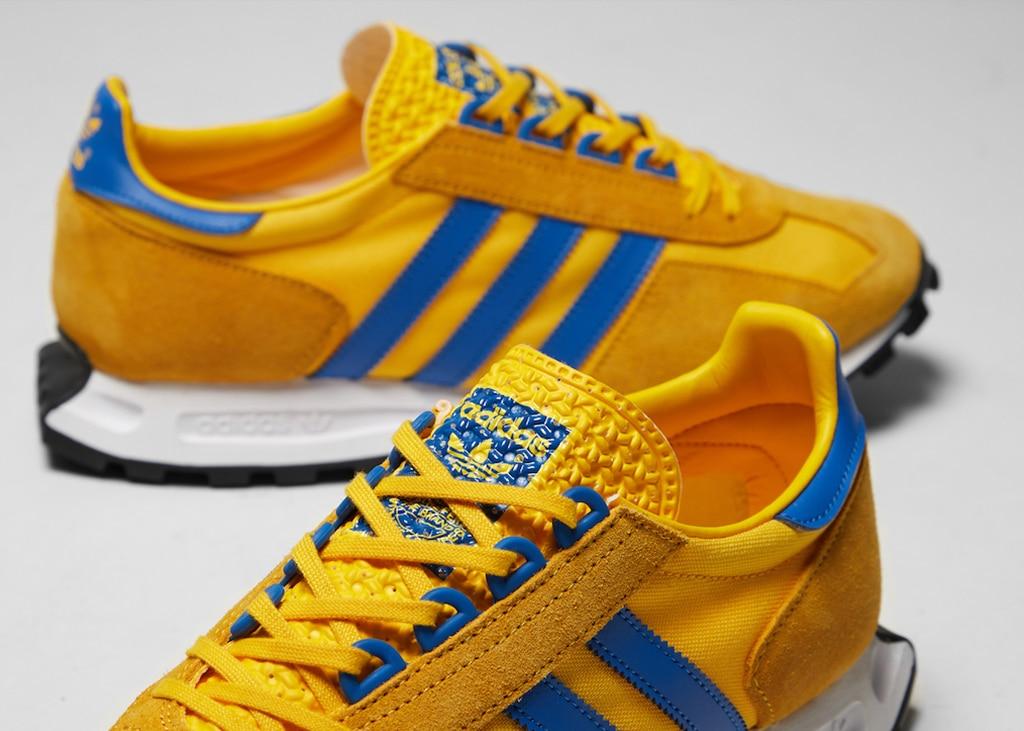 Snel nieuwe sneakers scoren met de adidas Racing 1 Yellow