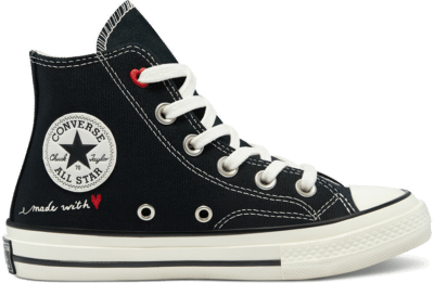 Converse Valentine's Day Chuck 70 High Top Black/Egret/University Red 370579C