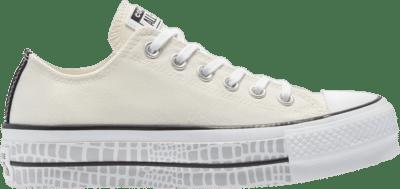 Converse Wmns Chuck Taylor All Star Platform Low 'Digital Daze – Crocodile Print' Cream 570325C
