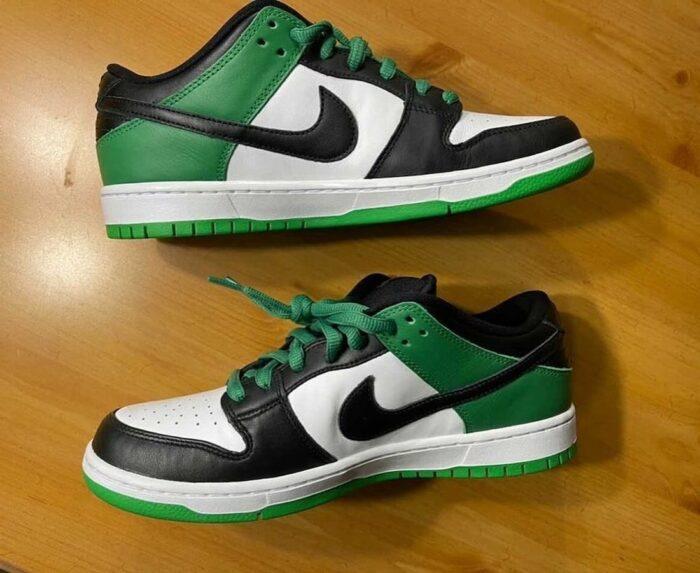 classic green dunk low nike