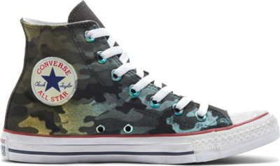 Converse Camo Chuck Taylor All Star High Top Navy Green Camo 171022C