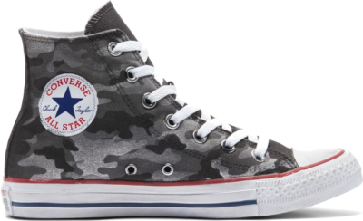 Converse Camo Chuck Taylor All Star High Top Charcoal Grey Camo 171023C