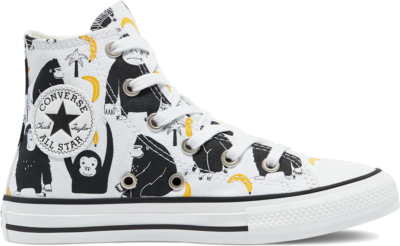 Converse Jungle Fun Chuck Taylor All Star High Top White/Black/Yellow 671127C