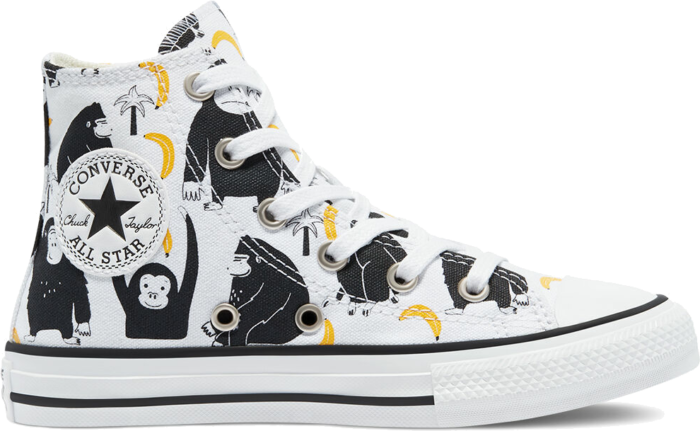 Converse Jungle Fun Chuck Taylor All Star High Top White/Black/Yellow 671127C