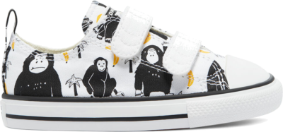 Converse Jungle Fun Easy-On Chuck Taylor All Star Low Top White/Black/Yellow 771129C