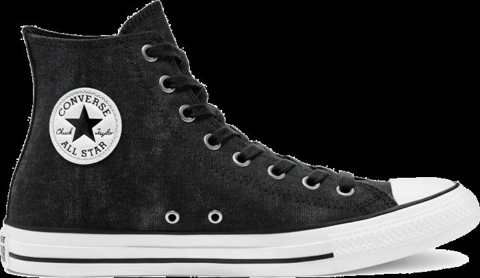 Washed Canvas Chuck Taylor All Star High Top zwart/zwart/egret 171062C