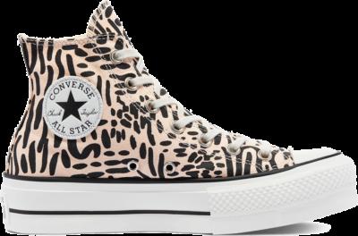 Converse Wmns Chuck Taylor All Star Platform High 'Jungle Art' Orange 571084C