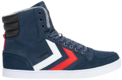 Hoge Sneakers Hummel SLIMMER STADIL DUO OILED HIGH Blauw 208965-1009