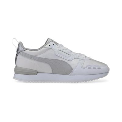 Puma R78 Metallic sportschoenen voor Dames Grijs / Wit / Zilver 374739_02