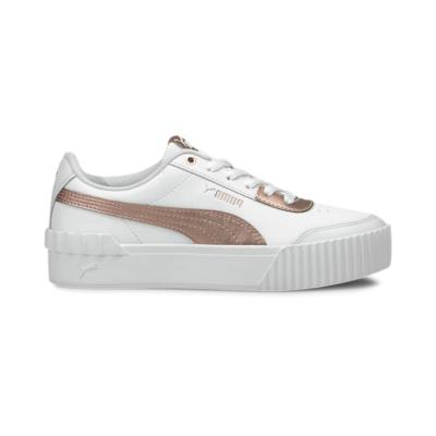 Puma Carina Lift Metallic sportschoenen voor Dames Goud / Roze / Wit 375995_01