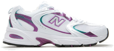 New Balance – 530 Sneakers in wit en paars Wit MR530SF