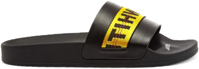 Off-White Industrial Slide (2019) BLACK/WHITE/YELLOW Omia088s19c220341060