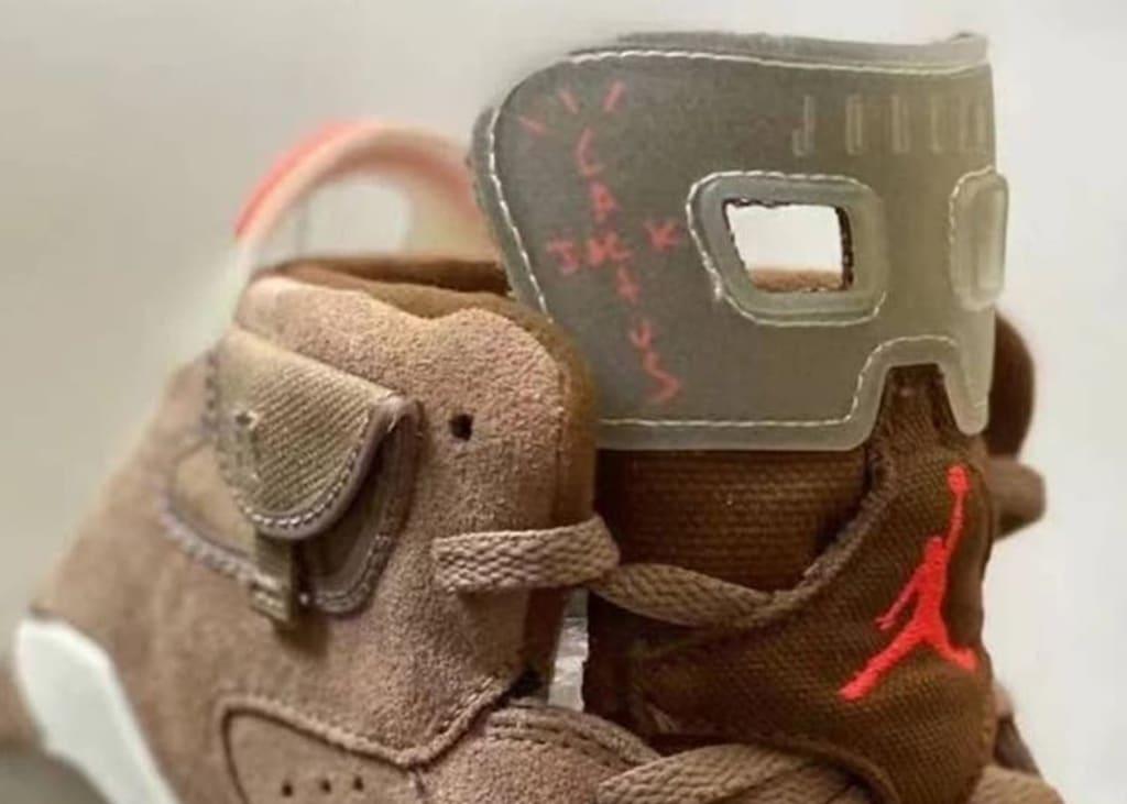 Nieuwe foto's van de Air Jordan 6 'Cactus Jack' GS van Travis Scott opgedoken