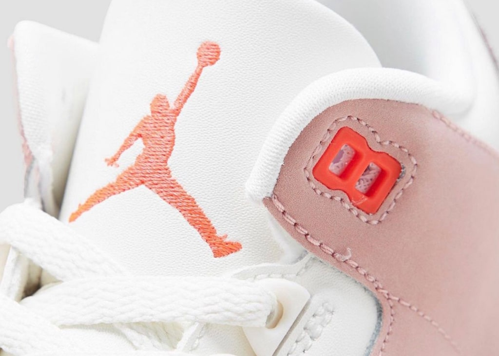 Betere foto's van de Air Jordan 3 WMNS Rust Pink die uitkomen in april