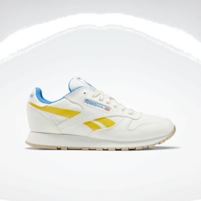 Reebok Classic Leather Grow Schoenen Chalk / Primal Yellow / Horizon Blue S23721