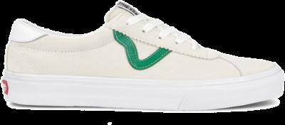 Vans Sport – Suu00e8de sneakers in cru00e8me/groen-Wit Wit VN0A4BU602Q1