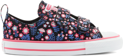 Converse Ditsy Floral Easy-On Chuck Taylor All Star Low Top Black/Bold Pink 770217C