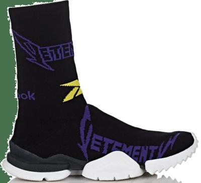 Reebok Sock Runner Vetements Black Yellow Purple TBA
