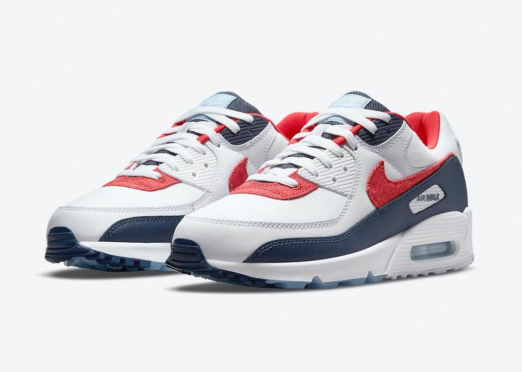 In de aankomende weken verschijnen de Nike Air Max 90 'USA Denim'