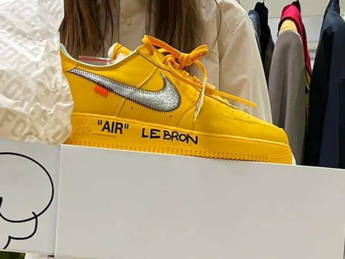 nike off white Air Force 1 Hebron