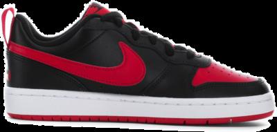 Nike Court Borough Low 2 Black University Red (GS) BQ5448-007