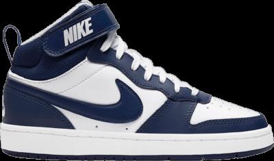 Nike Court Borough Mid 2 White Blue Void (GS) CD7782-107