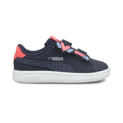 Puma Smash v2 Unicorn babysneakers Blauw 368791_02