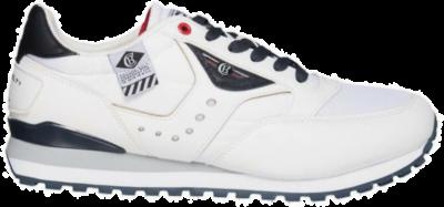 COTTON BELT White Depp Red Heren Sneakers CBM01305003 wit CBM01305003