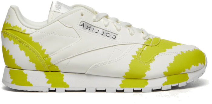 Reebok x Collina Strade Classic Leather-Footwear White / Light Blue / Lime Yellow H03156