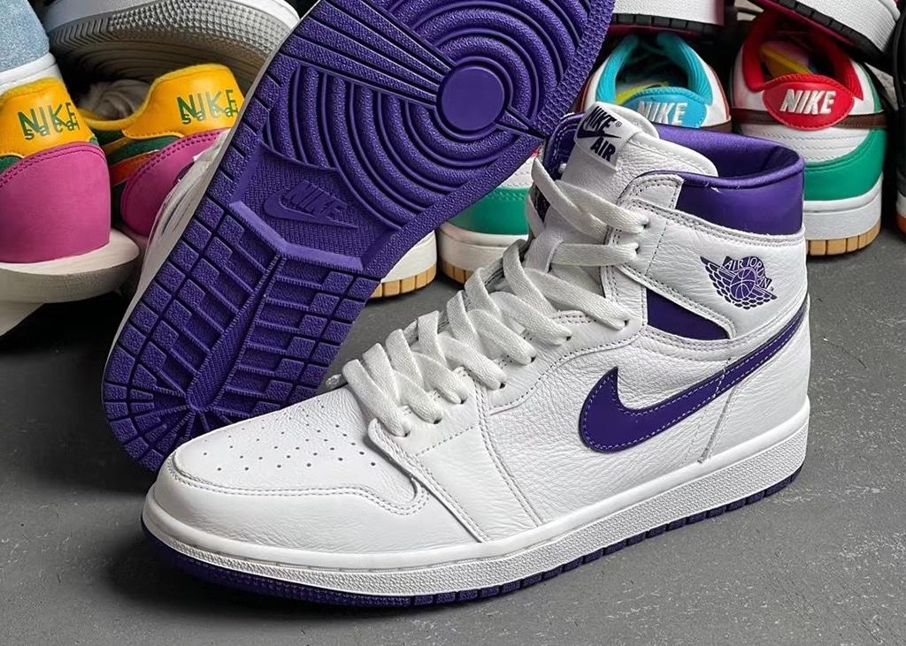 Op 3 juni komen de witte Air Jordan 1 WMNS Court Purple uit