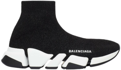 Balenciaga Speed 2.0 Black White Shiny (W) 636833W2DC11091