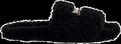Balenciaga Furry Slide Black White (W) 654261W2DO11096
