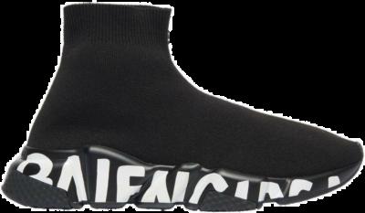 Balenciaga Speed Graffiti Black White (W) 605942W2DB71006
