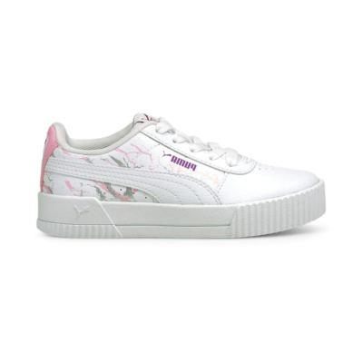 Puma Carina Marble Glitter sneakers kinderen Wit 375090_01