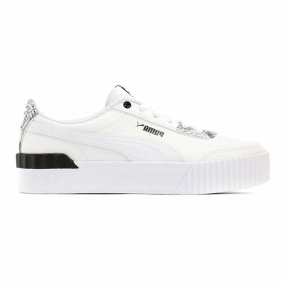 Puma Carina Lift Reptile sneakers dames Wit / Zwart 382504_01
