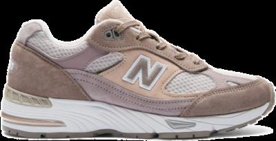 Damen New Balance 991 Grey/Pinky Grey