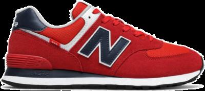 Herren New Balance 574 Team Red/Natural Indigo