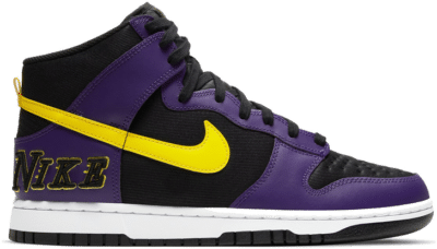 "Nike DUNK HI PREMIUM EMB ""BLACK PURPLE"" DH0642-001"
