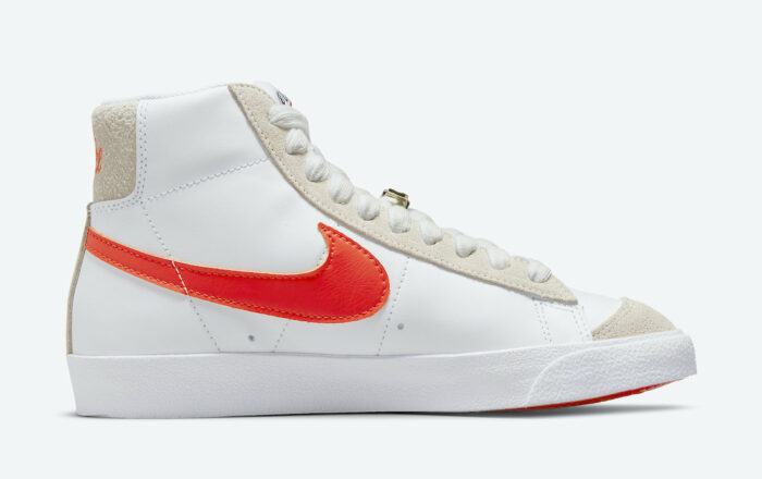 blazer orange swoosh nike