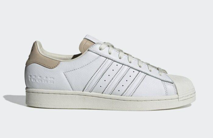 superstar Adidas white tan