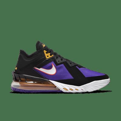 Nike LeBron 18 Low Black/White-Fierce Purple-Racer Blue black CV7562-003