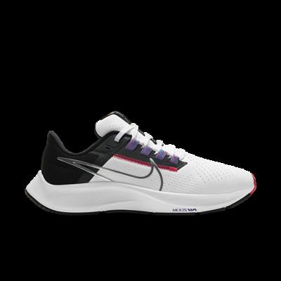 Nike Air Zoom Pegasus 38 White Black Flash Crimson (W) CW7358-101