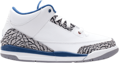Air Jordan 3 Retro PS 'True Blue' 2011 White 429487-104