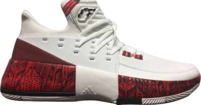 adidas SM D Lillard 3.0 March Madness 'Louisville Cardinals' White BY3324