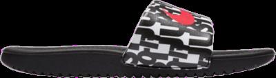 Nike Kawa Print Slide GS 'Just Do It' Black 819358-007