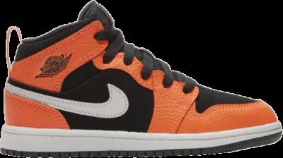 Air Jordan 1 Mid PS 'Black Cone' Orange 640734-062