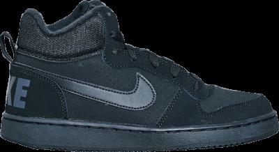Nike Court Borough Mid GS 'Triple Black' Black 839977-001