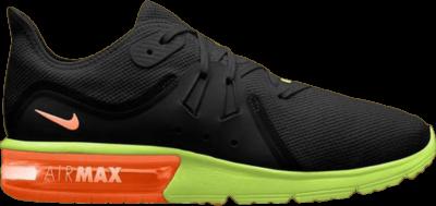 Nike Air Max Sequent 3 'Black Orange Volt' Black 921694-012
