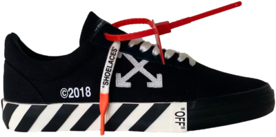 Off-White Off-White WMNS Vulc Low Top Sneakers Black (Updated Stripes) (2019)  OWIA146R198000161000