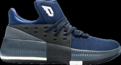 adidas D Lillard 3 J 'Utility Black Mystery Blue' Blue BW0483